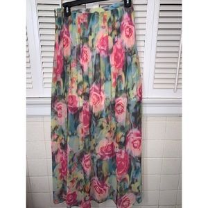 Jeans by Buffalo Rose Watercolor Super Maxi Skirt
